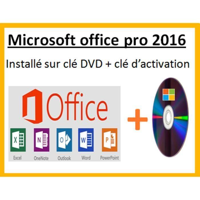 Microsoft office professionnel 2016 sur dvd prix pas - Cle activation office 365 famille premium ...