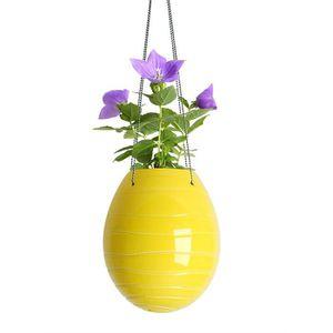 suspension pour plantes cache pot jaune achat vente vase soliflore soldes d hiver. Black Bedroom Furniture Sets. Home Design Ideas