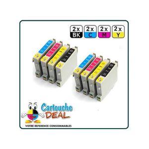 CARTOUCHE IMPRIMANTE EPSON T0615 : Lot 8 cartouches compatible Stylus D