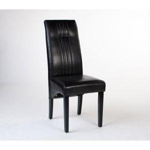 CHAISE Chaise design ODIN marron   Par 2