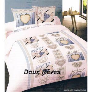 """HOUSSE DE COUETTE Housse de couette 240x220cm  """" SWEET HOME BLEU """" 1"""