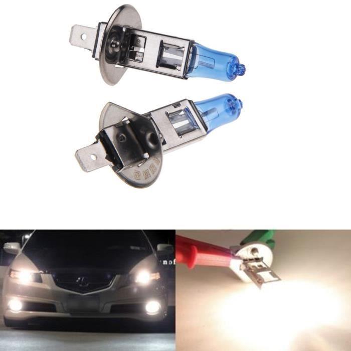 2x h1 55w 12v phares x non super blanc lumiere ampoule lampe pour auto voiture achat vente. Black Bedroom Furniture Sets. Home Design Ideas