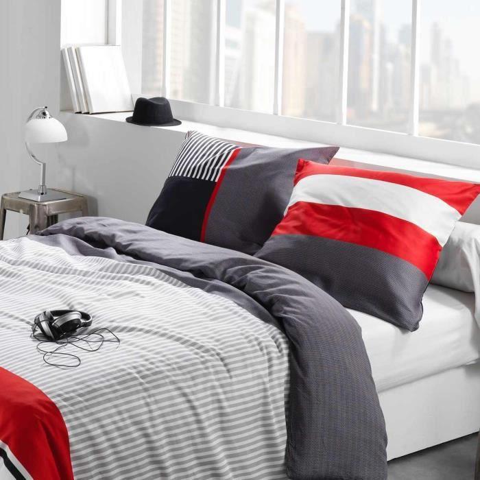 drap plat drap housse taie caravelle rouge achat vente parure de drap cdiscount. Black Bedroom Furniture Sets. Home Design Ideas