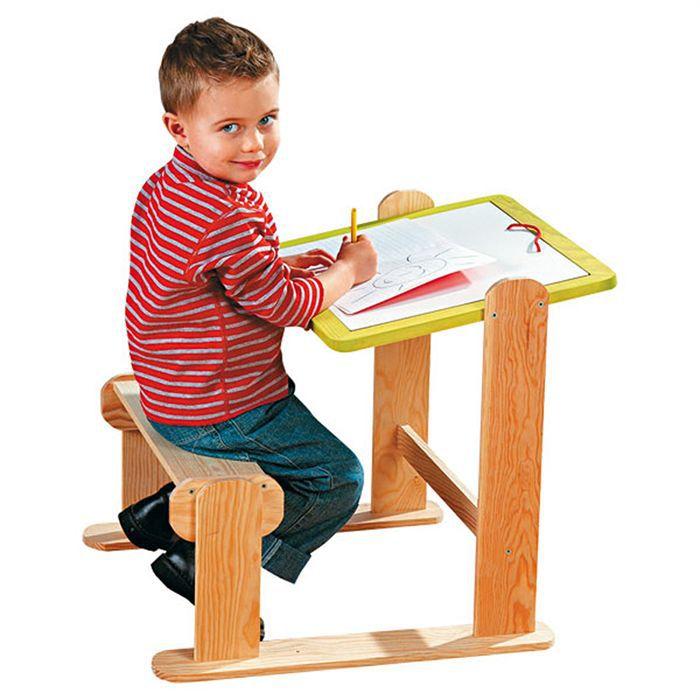Pupitre bois reglable achat vente bureau b b enfant cdiscount - Pupitre enfant bois ...