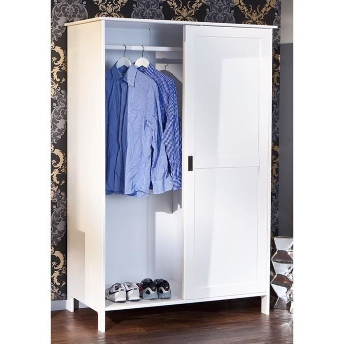 Armoire En Pin Massif 2 Portes Coulissantes Mafra Achat