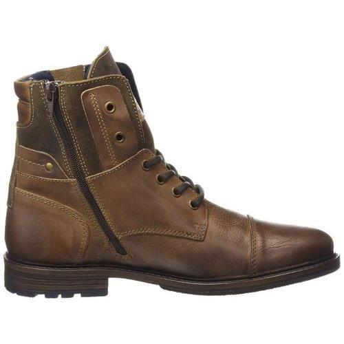 boots haute lacet homme mustang marron achat vente bottine cdiscount. Black Bedroom Furniture Sets. Home Design Ideas