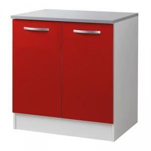 Paris prix meuble bas 2 portes 80cm smarty rouge for Meuble d occasion paris