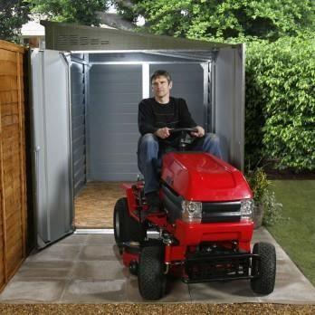 Garage motos ou abri de jardin m tal vert tit achat for Imposition garage ou abri de jardin
