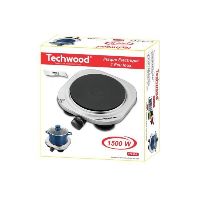 techwood tpi 103 plaque lectrique 1 feu inox table de. Black Bedroom Furniture Sets. Home Design Ideas
