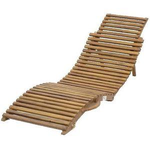 chaise longue transat bois massif achat vente chaise. Black Bedroom Furniture Sets. Home Design Ideas