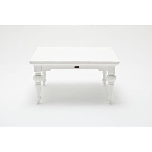 Table basse carr e en bois massif provence achat vente - Table basse carree bois massif ...