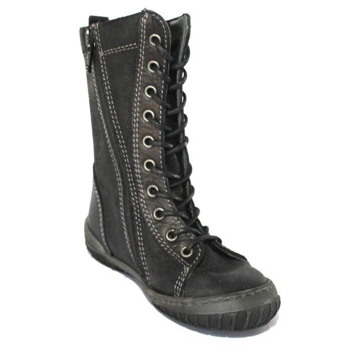 bottes chaussures enfant fille cuir t 24 neuves noir. Black Bedroom Furniture Sets. Home Design Ideas