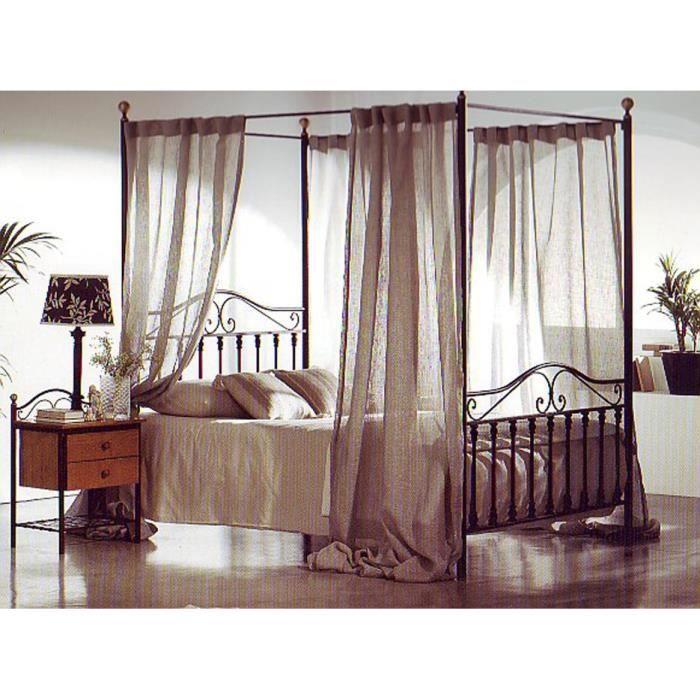 lit baldaquin en fer forg mod le afrique achat vente structure de lit cdiscount. Black Bedroom Furniture Sets. Home Design Ideas