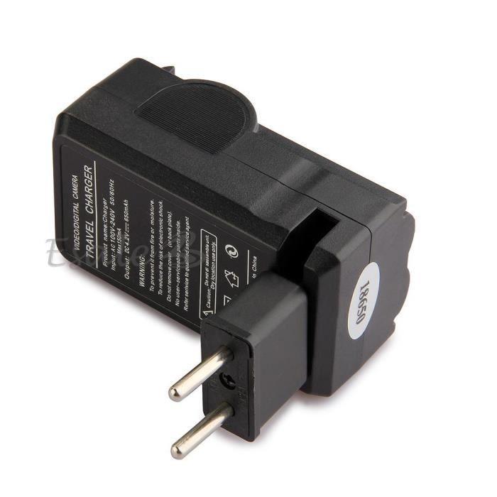chargeur us charge accus batterie pile rechargeable 18650 adaptateur eu achat vente piles. Black Bedroom Furniture Sets. Home Design Ideas