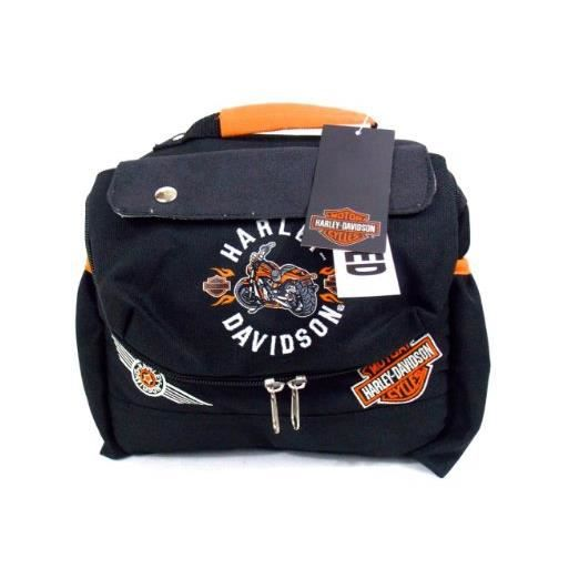 harley davidson sac a gouter lunch repas isolant nylon noir achat vente sac gouter. Black Bedroom Furniture Sets. Home Design Ideas