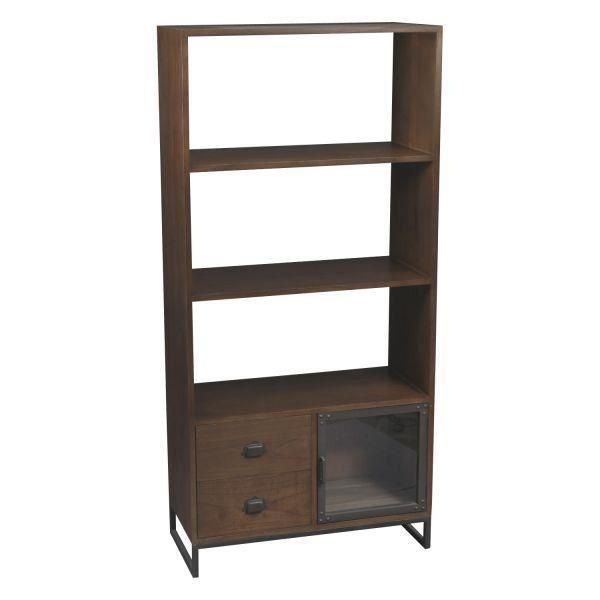 Biblioth que industrielle blaize achat vente biblioth que biblioth que in - Achat meuble bibliotheque ...