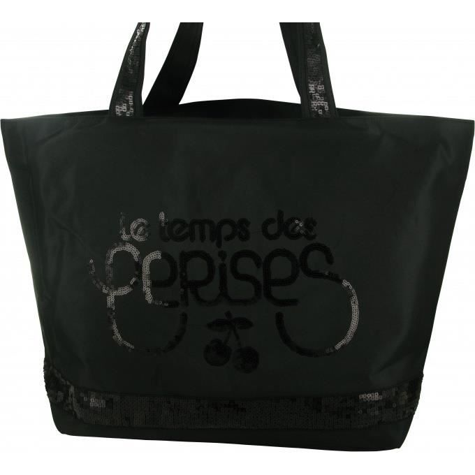 sac grand cabas glitter le temps des cerises achat vente sac main sac grand cabas glitter. Black Bedroom Furniture Sets. Home Design Ideas