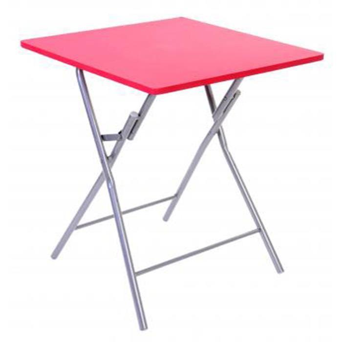 table pliante rouge 60 x 60 x 75 cm achat vente table d 39 appoint table pliante rouge. Black Bedroom Furniture Sets. Home Design Ideas