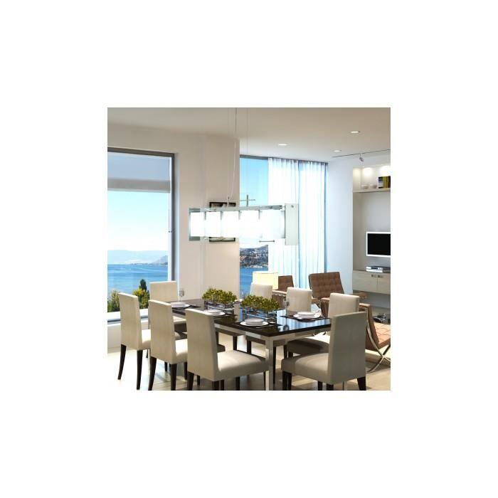 lampe suspendue pour salle manger en verre 5 x e14 achat vente lampe suspendue pour salle. Black Bedroom Furniture Sets. Home Design Ideas