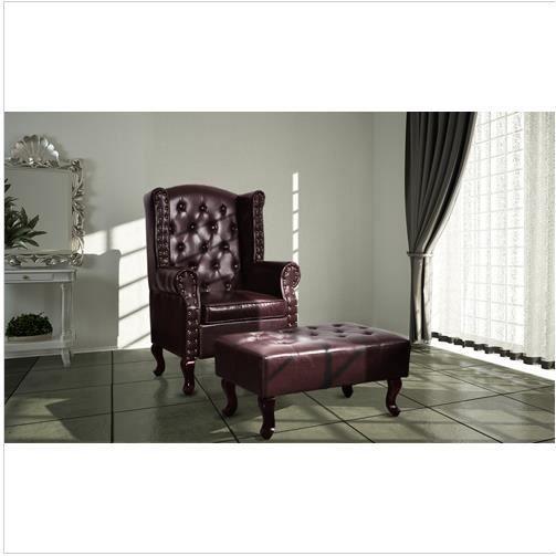 fauteuil chesterfield pouf repose pied achat vente fauteuil cadeaux de no l cdiscount. Black Bedroom Furniture Sets. Home Design Ideas