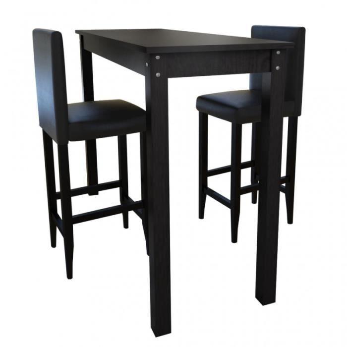 lot de 2 tabourets de bar avec table haute 1202005 achat vente tabouret de bar les soldes. Black Bedroom Furniture Sets. Home Design Ideas