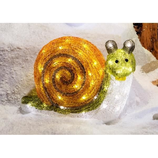 Escargot couleur acrylique lumineux 68 led achat for Decoration escargot exterieur