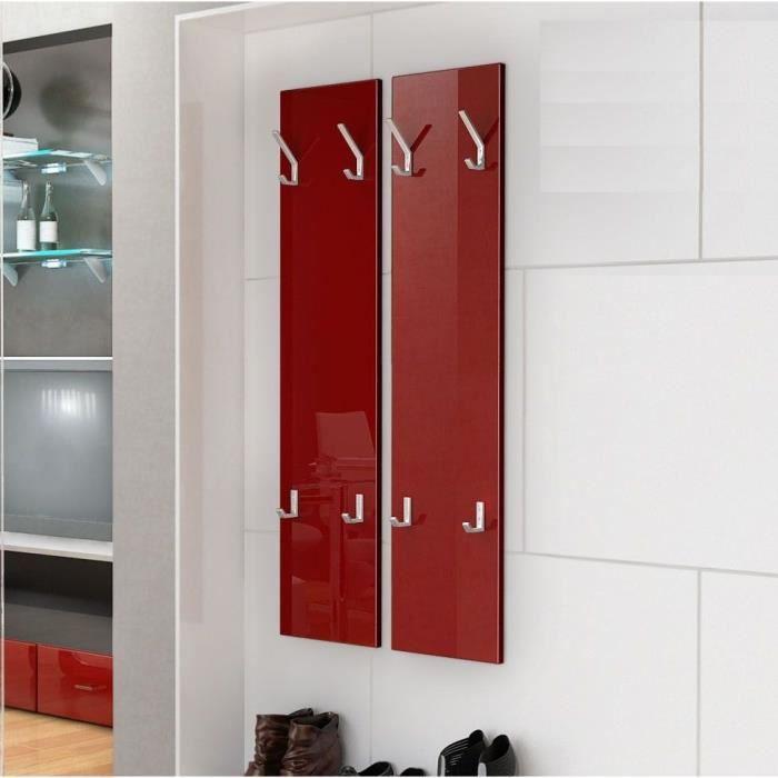Deux porte manteaux bordeaux de 120 cm achat vente porte manteau cdiscount for Achat porte interieur bordeaux