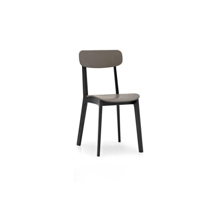 chaise design cream en plastique noir achat vente. Black Bedroom Furniture Sets. Home Design Ideas