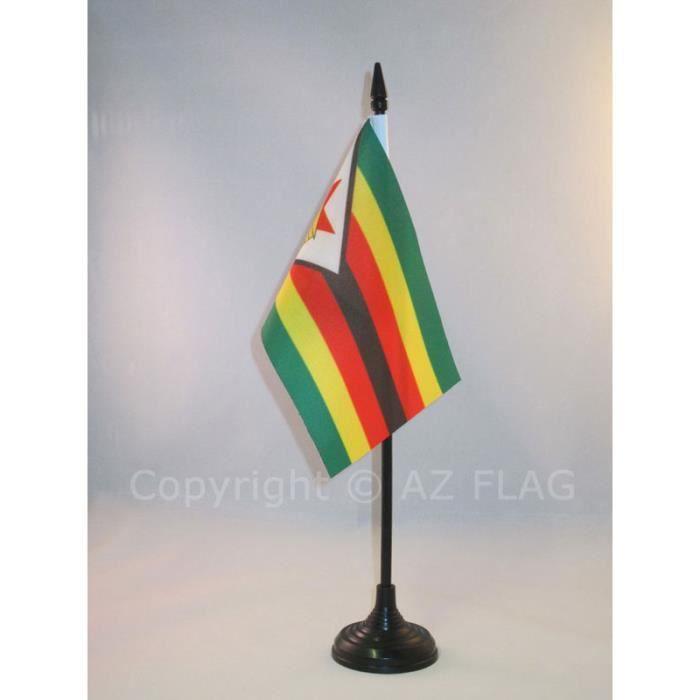 Drapeau de table zimbabwe 15x10cm zimbabw en achat for Decoration murale zimbabwe