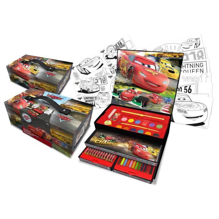Cars coffret de coloriage tiroirs deluxe gift box achat vente jeu de coloriage dessin - Coffret coloriage cars leclerc ...