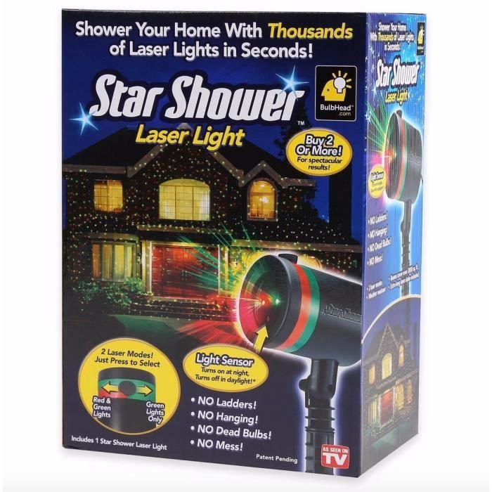 Lumi re laser projecteur de plein air toiles scintillantes d coration de no l achat vente - Projecteur laser noel ...