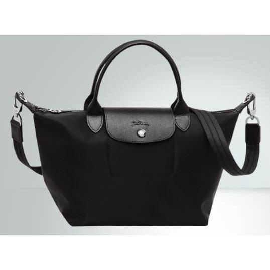 Sac Longchamp Noir Le Pliage : Sac ? main longchamp le pliage n?o noir achat vente