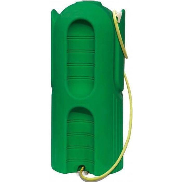Cuve ecopluie 800 litres vert pour la r cup ration de l for Utiliser l eau de pluie pour la maison