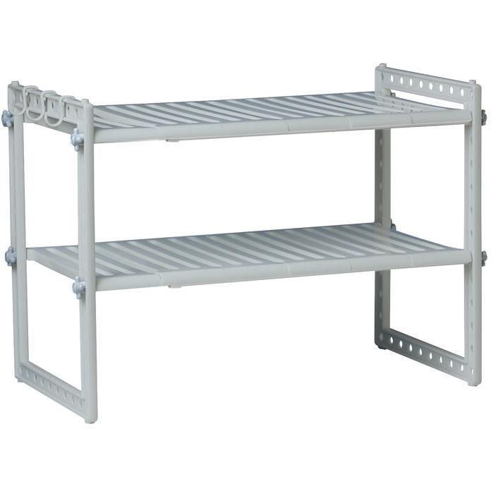 Rangement sous vier modulable 41x70cm achat vente petit meuble rangement rangement de for Rangement interieur placard cuisine