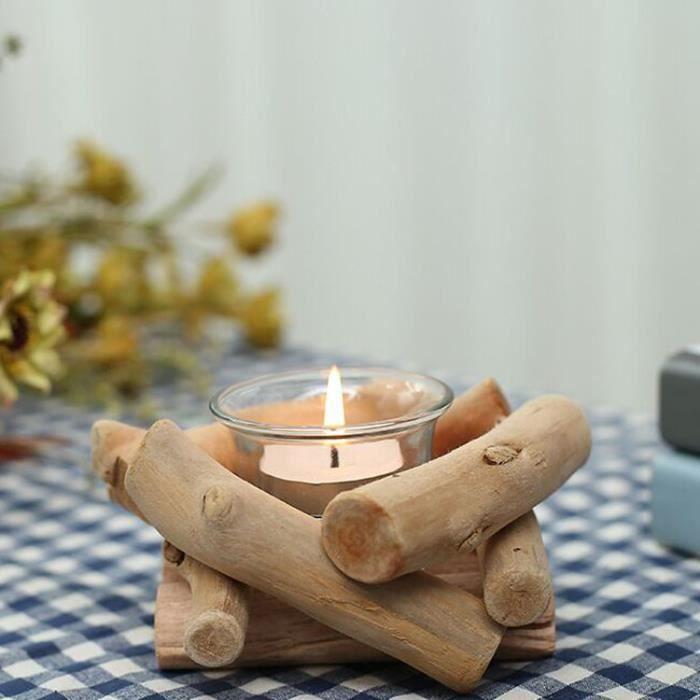D coration chandelier bougeoir en bois petit objet achat for Petit objet deco