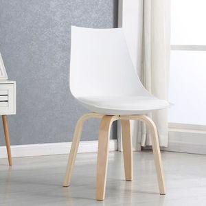 Chaise salle manger blanche design nicosie achat for Chaise blanche design salle a manger