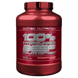 PROTÉINE 100% HYDROLYZED BEEF 1800g FRAISE - SCITEC  BEEF I