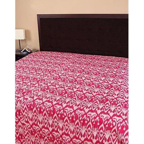 Draps de lit meubles literie couvre lit imprim ikat - Ensemble draps lit double ...