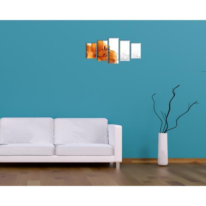 bilderdepot24 toile d co imprim e tableau toile lis 100x50 achat vente tableau toile. Black Bedroom Furniture Sets. Home Design Ideas