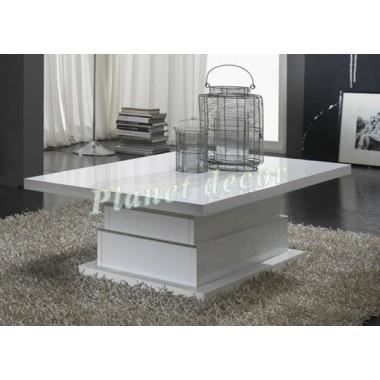 Table basse modele lux blanc achat vente table basse - Modele table basse ...