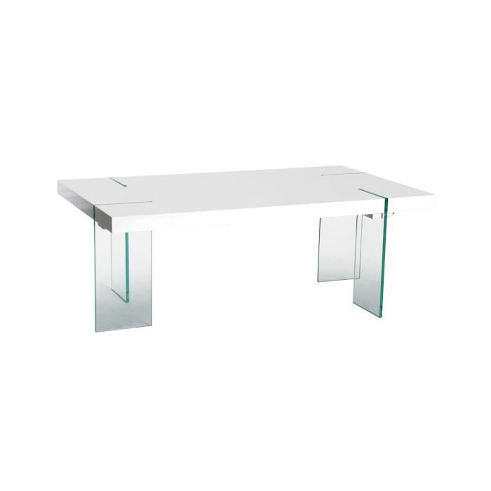 Shiny table basse rectangulaire blanc achat vente - Table basse rectangulaire blanc ...
