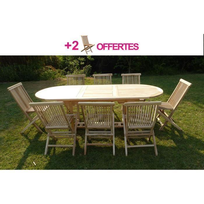 Emejing Salon De Jardin En Teck Discount Images - Amazing House ...