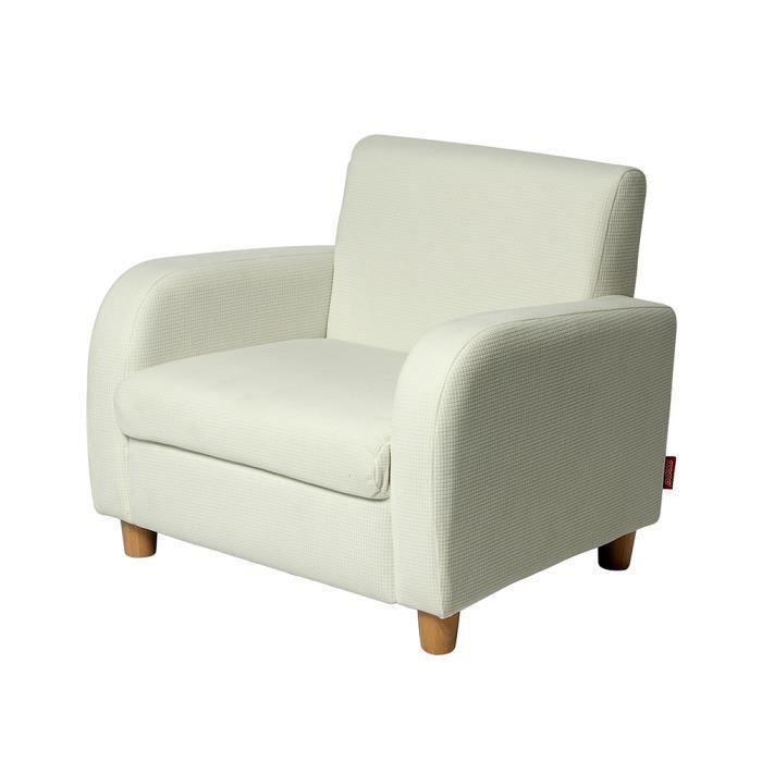 fauteuil pour enfant blanc bois et tissu momo for kids achat vente fauteuil canap b b. Black Bedroom Furniture Sets. Home Design Ideas