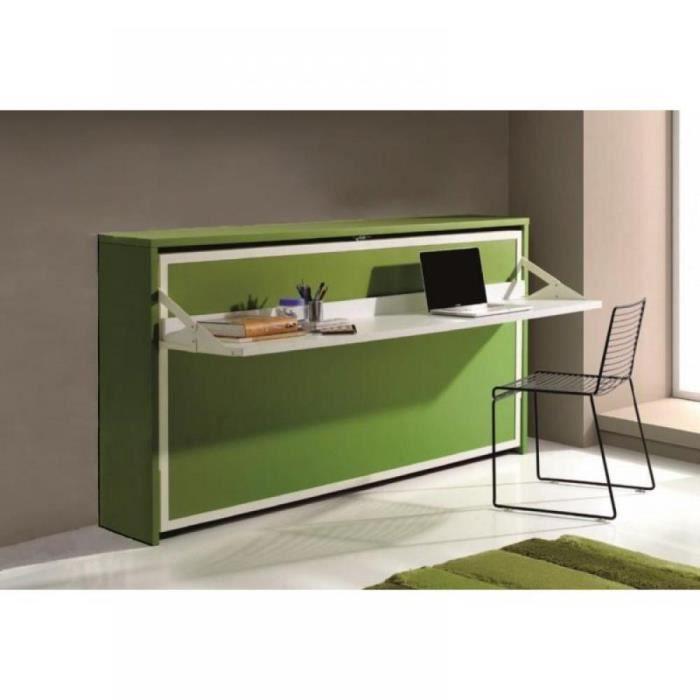 armoire lit transversale city avec bureau int g achat vente lit escamotable armoire lit. Black Bedroom Furniture Sets. Home Design Ideas