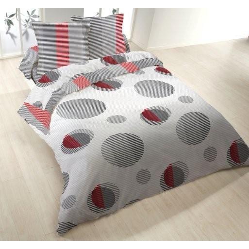 parure de lit 4 pieces flanelle imprimee circle achat vente parure de drap soldes d t. Black Bedroom Furniture Sets. Home Design Ideas