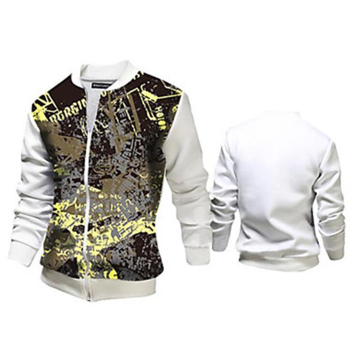 2016 veste d contract pour des hommes blanc achat vente veste cdiscount - Veste homme decontracte ...