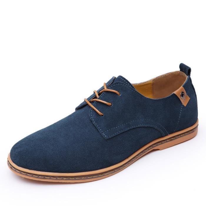 chaussure homme en daim bleu achat vente pas cher. Black Bedroom Furniture Sets. Home Design Ideas