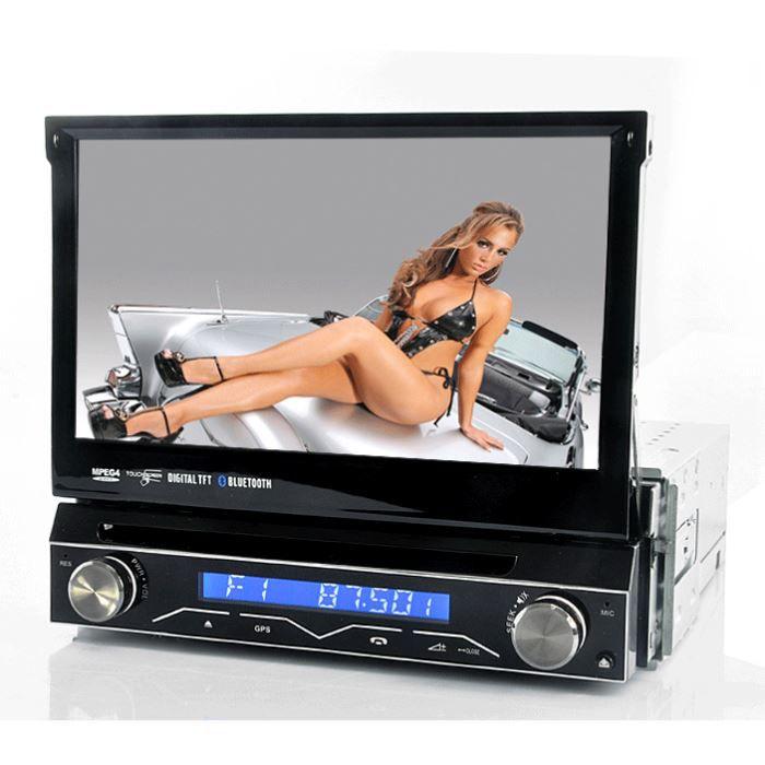 newsauto car audio video autoradio multimedia gps din ecran flip f  sho