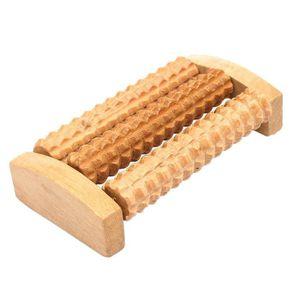 Rouleau de massage en bois pour les pieds