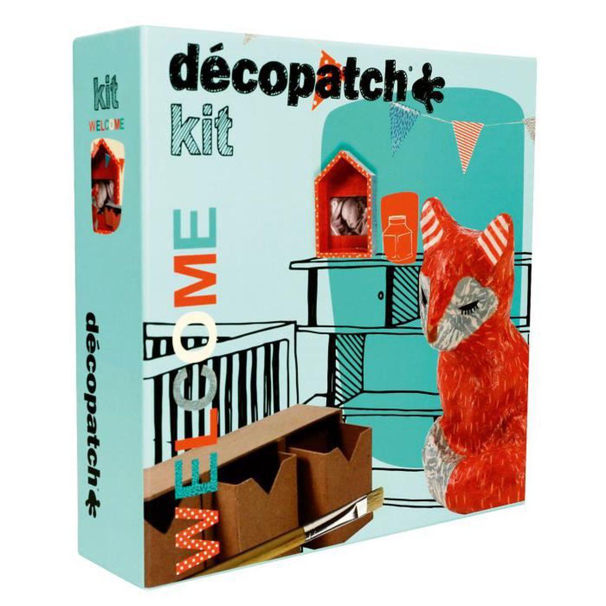 kit cr atif d copatch welcome gar on aille unique coloris unique achat vente kit papier. Black Bedroom Furniture Sets. Home Design Ideas